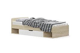 Кровать односпальная (90) Типс, Дуб Сонома, MEBEL SERVICE (Украина)