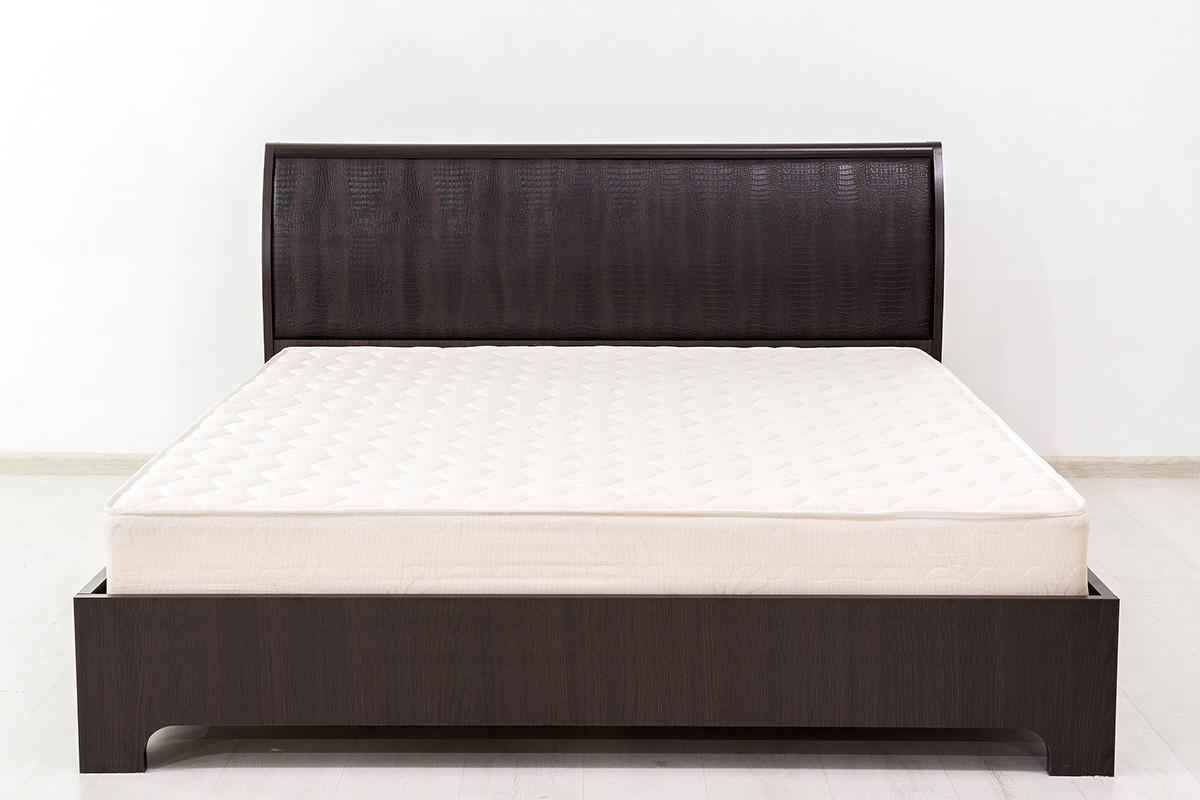 Кровать двуспальная (160), коллекции Токио, Кайман Коричневый, MEBEL SERVICE (Украина)