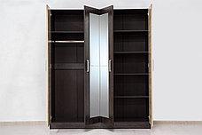 Шкаф для одежды 4Д как часть комплекта Уют 1, Дуб Сонома, Горизонт (Россия), фото 2
