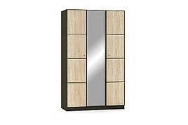 Шкаф для одежды 3Д (3Д), коллекции Фантазия, Дуб Самоа, MEBEL SERVICE (Украина)