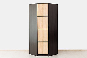 Шкаф для одежды угловой 1Д , коллекции Фантазия, Дуб Самоа, MEBEL SERVICE (Украина), фото 2