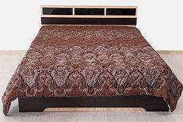 Кровать двуспальная, модульной системы Эдем 2, Дуб Млечный, СВ Мебель (Россия)