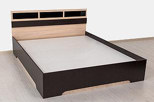 Кровать двуспальная, модульной системы Эдем 2, Дуб Млечный, СВ Мебель (Россия), фото 2