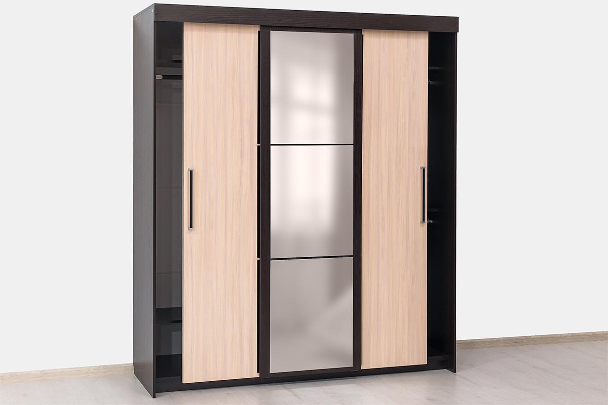 Шкаф-купе 3Д модульной системы Эдем 2, Дуб Млечный, СВ Мебель (Россия)