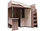 Кровать двухъярусная, модульной системы Город, Ясень Шимо светлый, СВ Мебель (Россия)