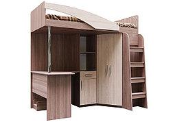 Кровать двухъярусная, модульной системы Город, Ясень, СВ Мебель (Россия)