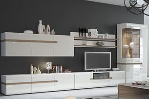 Линате - Комплект для гостиной 5880, Белый/Дуб трюфель, Анрэкс, фото 2