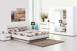 Линате - Комплект для спальни 5344, 4D, белый/дуб трюфель, Анрэкс