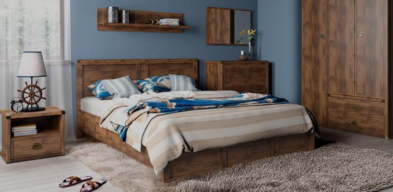 Магеллан - Комплект для спальни, 3D, Дуб саттер, Анрэкс