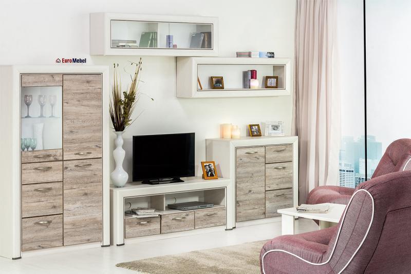 Оливия - Комплект для гостиной 5703, вудлайн кремовый/дуб анкона, Анрэкс