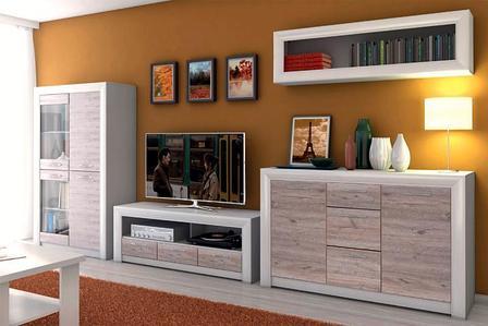 Оливия 2 - Комплект для гостиной, Вудлайн кремовый/Дуб анкона, Анрэкс, фото 2