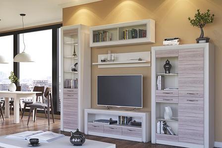 Оливия 3 - Комплект для гостиной, Вудлайн кремовый/Дуб анкона, Анрэкс, фото 2