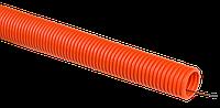 Труба гофр. ПНД d20 с зондом оранжевая тяжелая (100м) IEK
