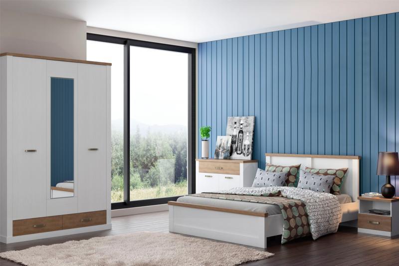Прованс - Комплект для спальни, 3D, Вудлайн кремовый/дуб кантри, Анрэкс