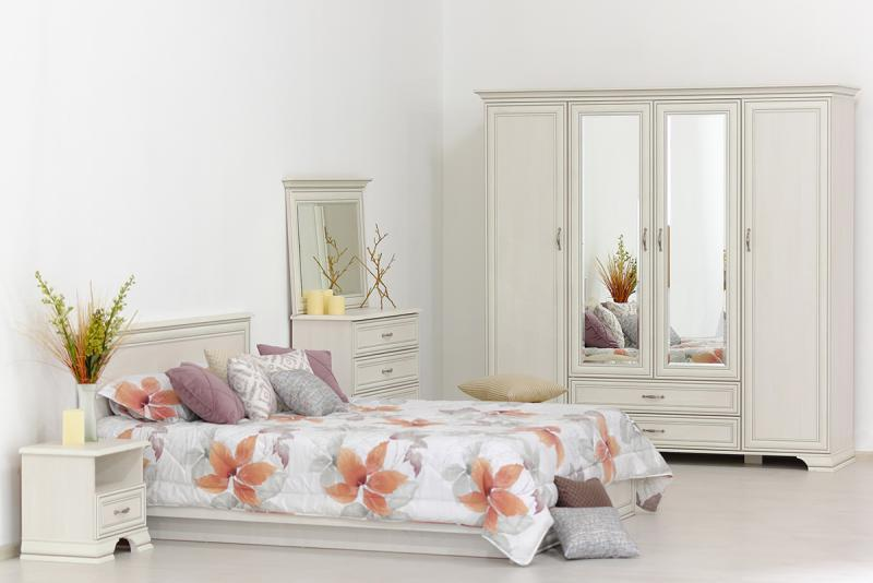 Тиффани - Комплект для спальни 1922, 4D,  вудлайн кремовый, Анрэкс