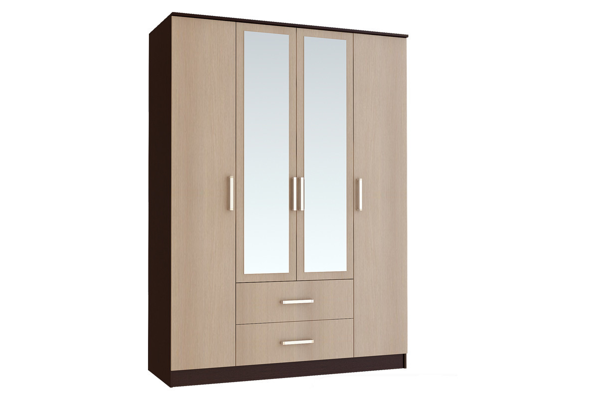 Шкаф для одежды 4Д  Фиеста, Лоредо, БТС (Россия)