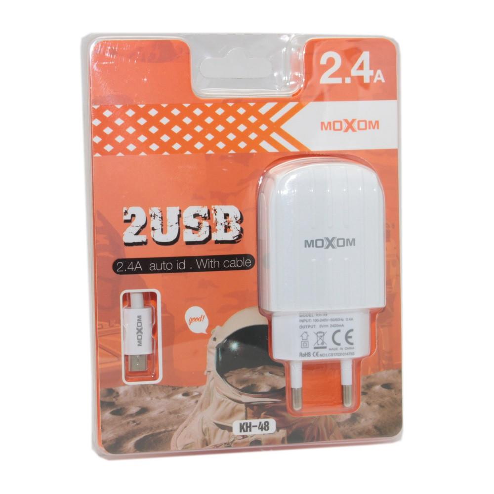 Зарядное устройство Moxom KH-48 Micro USB, Samsung