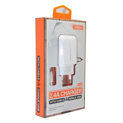 Зарядное устройство Moxom KH-66 Lightning, iPhone, фото 2