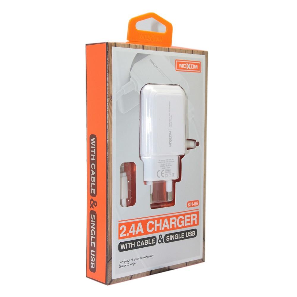 Зарядное устройство Moxom KH-66 Lightning, iPhone