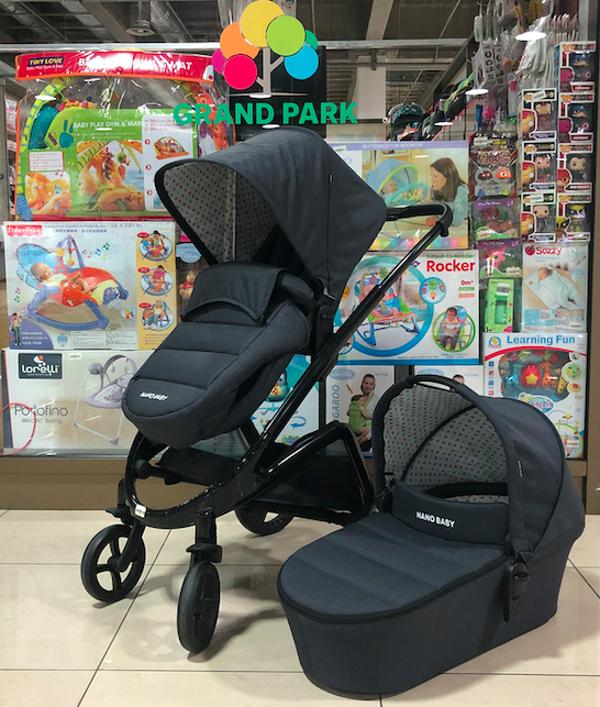 Детская коляска 2 в 1 Nano Baby Black