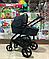 Детская коляска 2 в 1 Nano Baby Black, фото 3