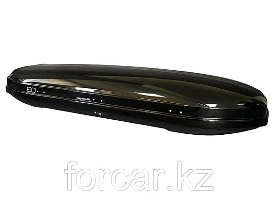 АВТОМОБИЛЬНЫЙ БОКС MAGNUM 450 (чёрный металлик) (2185х775х340) быстросъем, фото 2
