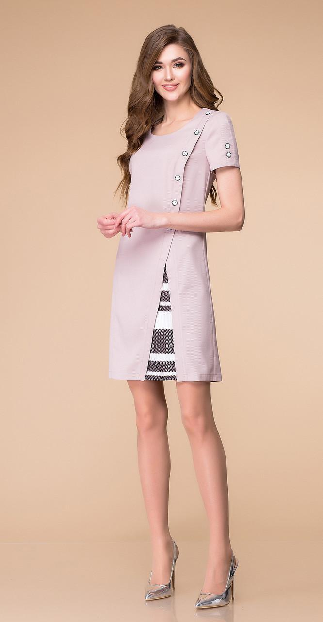 Платье Romanovich-1-1205, пудра, 46