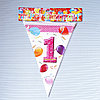 """Флажки на день рождения """"1 год"""""""