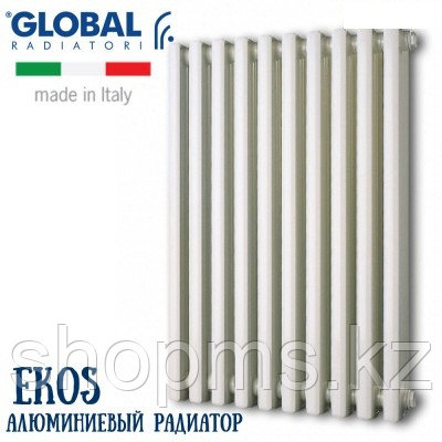 Радиатор алюминиевый GLOBAL EKOS 1400 (6 сек.) цена за сек., фото 2