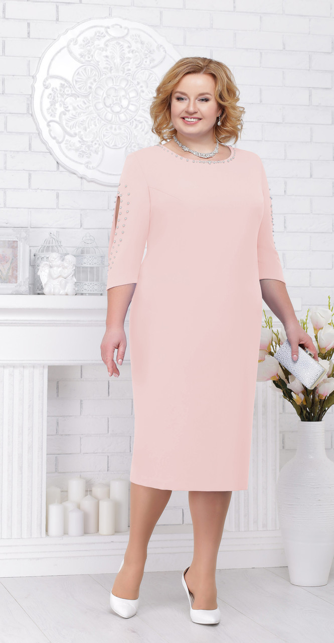 Платье Ninele-5696/2, пудра, 56