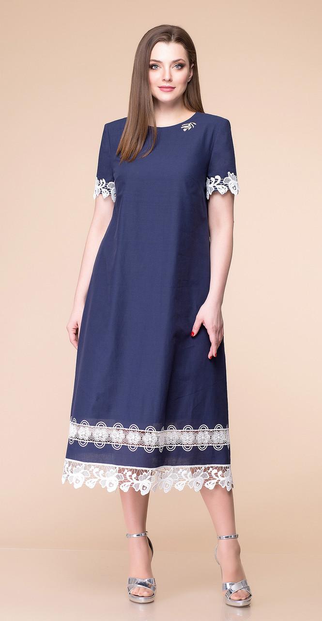 Платье Romanovich-1-1786, темно-синий, 50