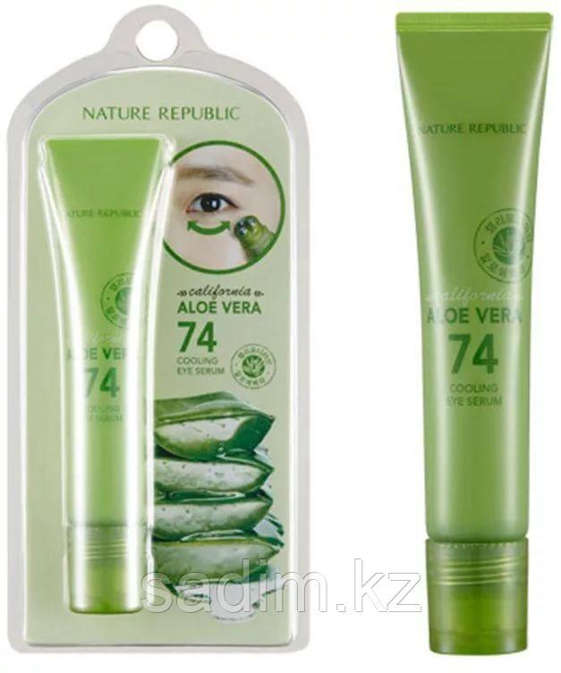Nature Republic California Aloe Vera 74 Cooling Eye Serum -  Сыворотка для век Aloe Vera