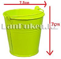 Ведро декоративное металлическое (зеленое)