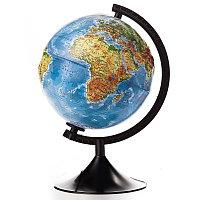 Глобус физический рельефный диаметр 21 см