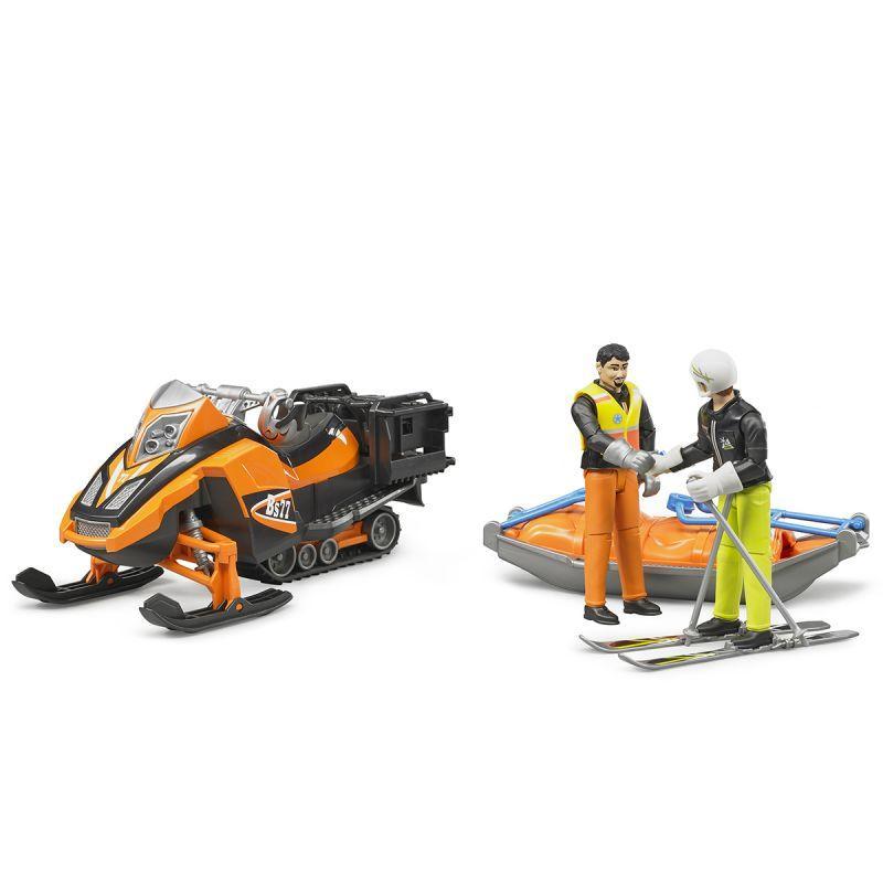 Bruder Игрушечный Снегоход с креплением Акиа, водителем и горнолыжником (Брудер)