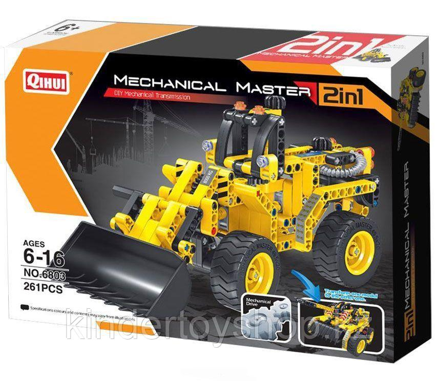 Конструктор QiHui Technics 6803 2в1 Mechanical Master бульдозер и танк аналог Лего Lego Technic