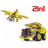 Конструктор QiHui Mechanical Master 6802 Самосвал и самолет аналог Лего Lego Technic 361 дет, фото 5