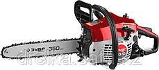 Пила цепная бензиновая, хромир. цилиндр, праймер, 37 см3 (1,2 кВт), шина 35 см, 11500 об/мин, ЗУБР, фото 2