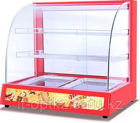 Витрина тепловая HW-2P (660x460x595 мм, 0,8 кВт, 220 В) цвет красный