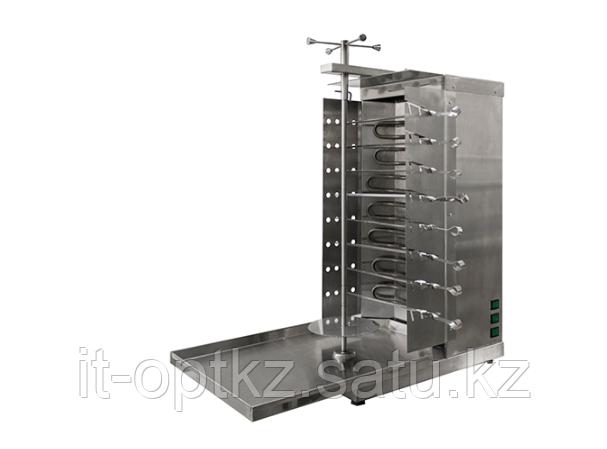 Шаурма-шашлычница электрическая ШШЭ-3 (515х770х860(880), с ручным приводом, 8 шампуров,6кВт, 220В)