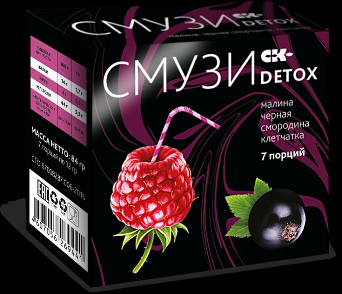 «СМУЗИ СК» «DETOX» со вкусом малины и черной смородины + витаминный комплекс.