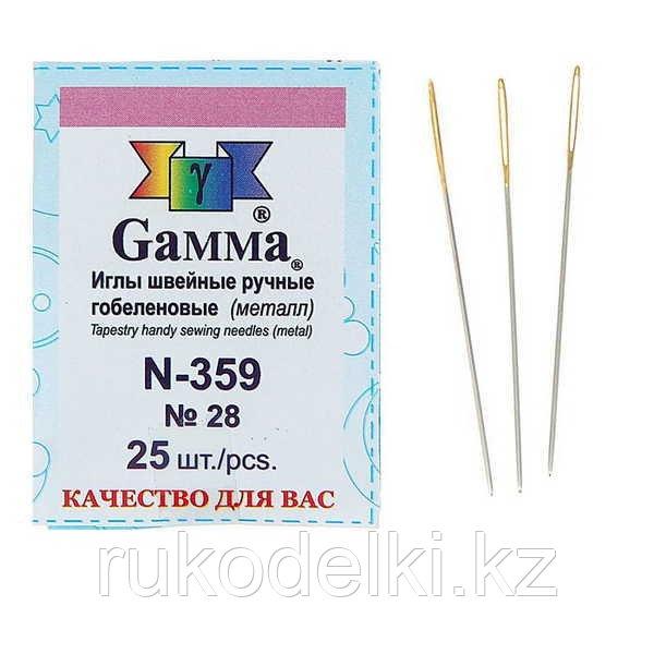 Иглы гобеленовые Gamma №28, 25 шт.
