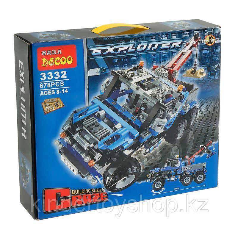 """Конструктор Аналог Lego Technik 8273-2  Decool 3332 """"Тягач - вездеход""""  678 деталей"""