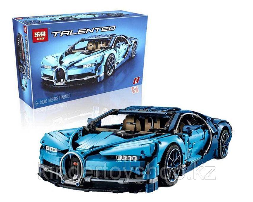 Конструктор Lepin 20086 аналог Лего Lego Technic 42083 KING QUEEN 90056 Bugatti Chiron Бугатти Широн д 4028 шт