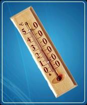 Термометр бытовой сувенирный Д-1, исп.2 (0...+50) ц.д.1, основание-дерево, 140х40мм