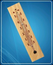 Термометр бытовой сувенирный Д-3, исп.2 (0...+50) ц.д.1, основание-дерево, 196х48мм