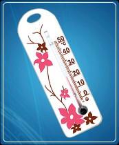Термометр бытовой сувенирный П-15 (0...+50) ц.д.1, основание-пластмасса, 150х60мм