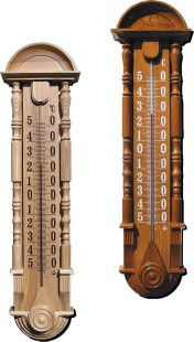 """Термометр сувенирный """"Барокко"""" ТФ-2П (-50...+50) цена деления 1, основание-дерево 820х200мм"""