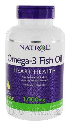 NATROL Омега 3 ( Omega) 1000 мг.в 1 капсуле. 180 мг. EPA/120 мг.DHA. 150 капсул. Для взрослых и детей.