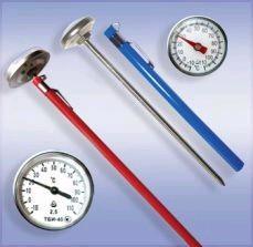 Термометр биметаллический игольчатый ТБИ-40, (0...+200), L=250 мм, кл.точности 2,5, ц.д.5, до 24.03.17